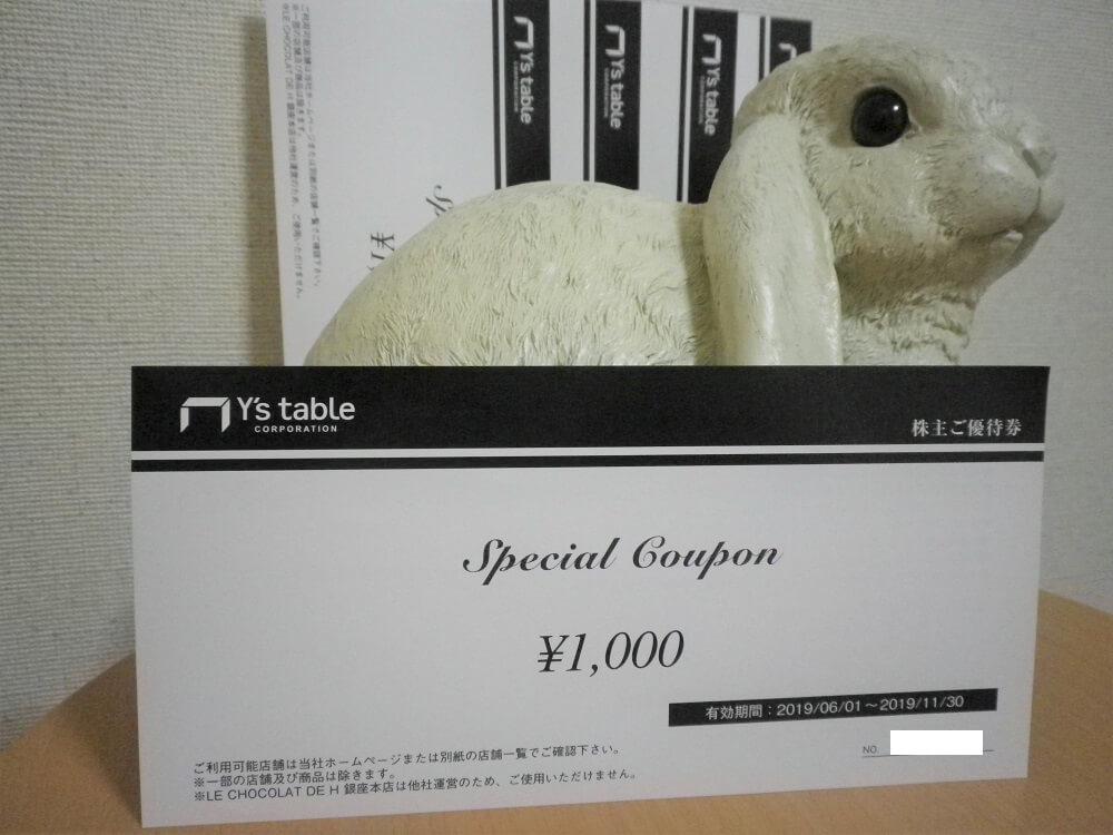 201902ワイズテーブルコーポレーション株主優待券