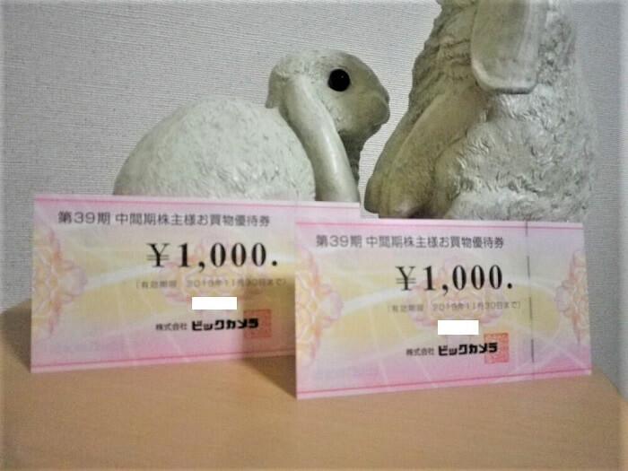 201902ビックカメラ株主優待券