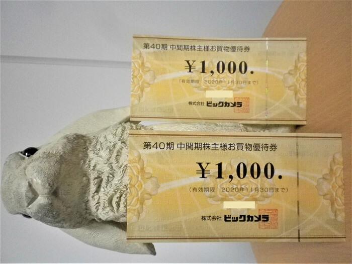 202002ビックカメラ株主優待券