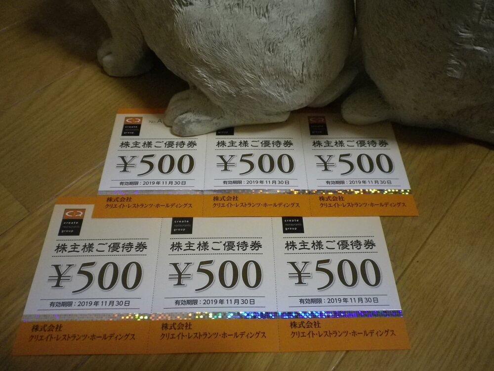 201902クリエイトレストランツHD株主優待券