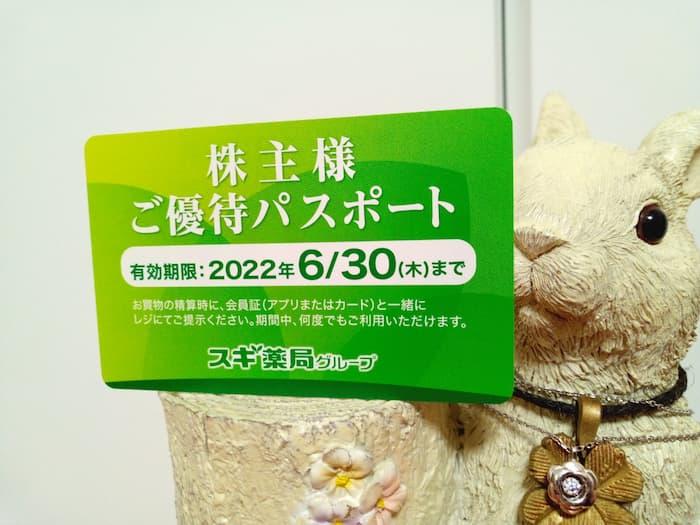 202102スギホールディングス株主優待パスポート表