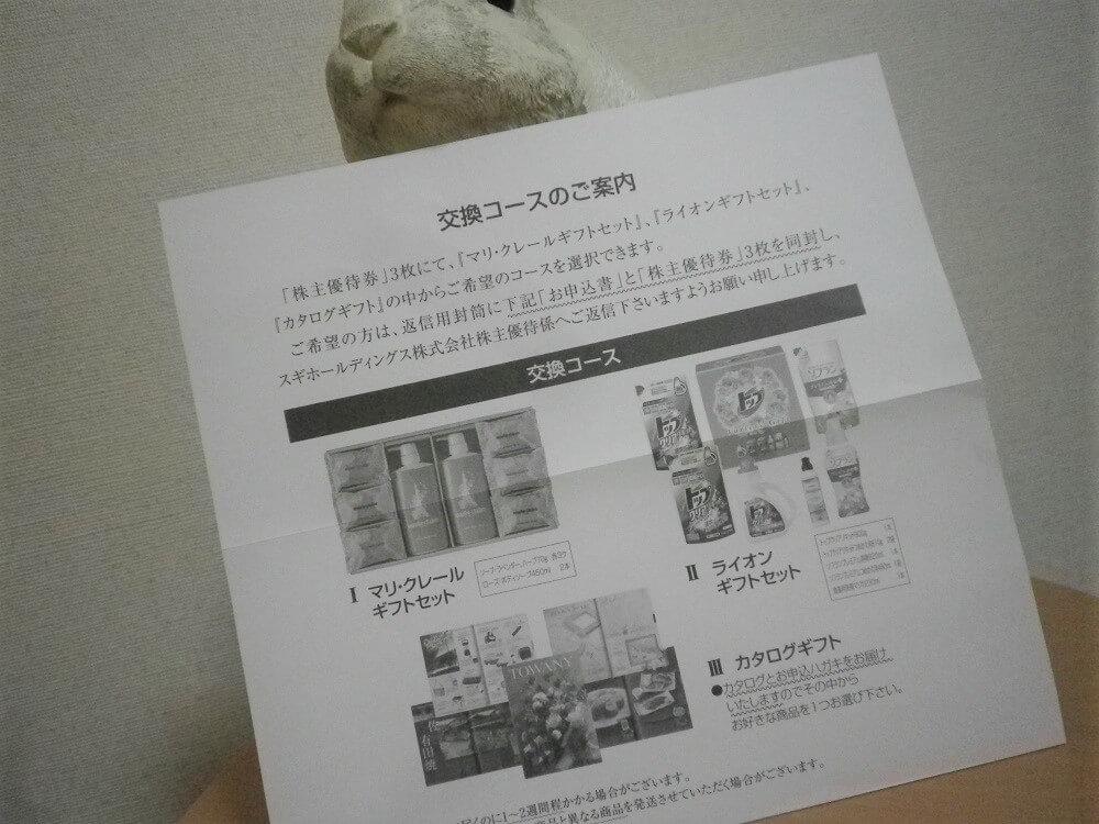 201902スギH優待券交換コース商品