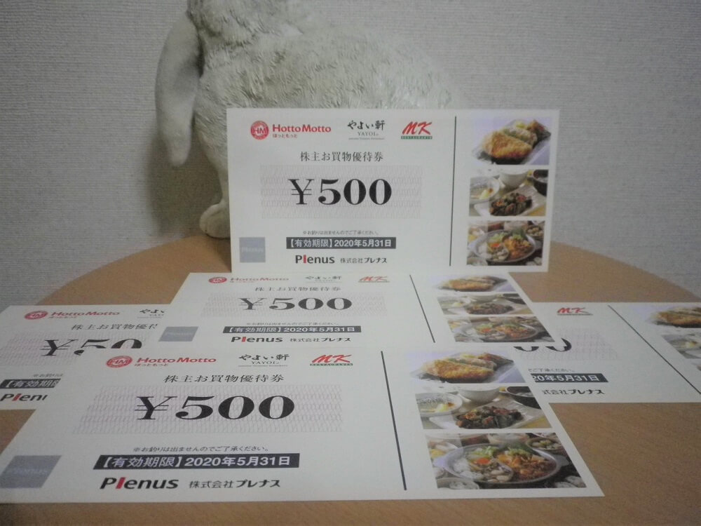 201902プレナス株主優待券