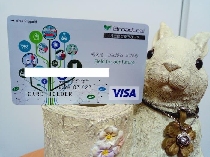 202012ブロードリーフ株主優待Visaギフトカード
