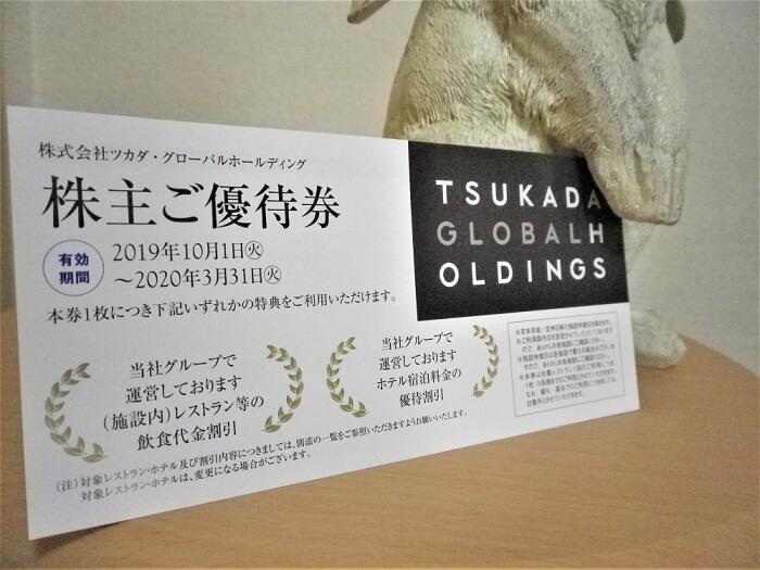 201906ツカダ・グローバルホールディング株主優待券