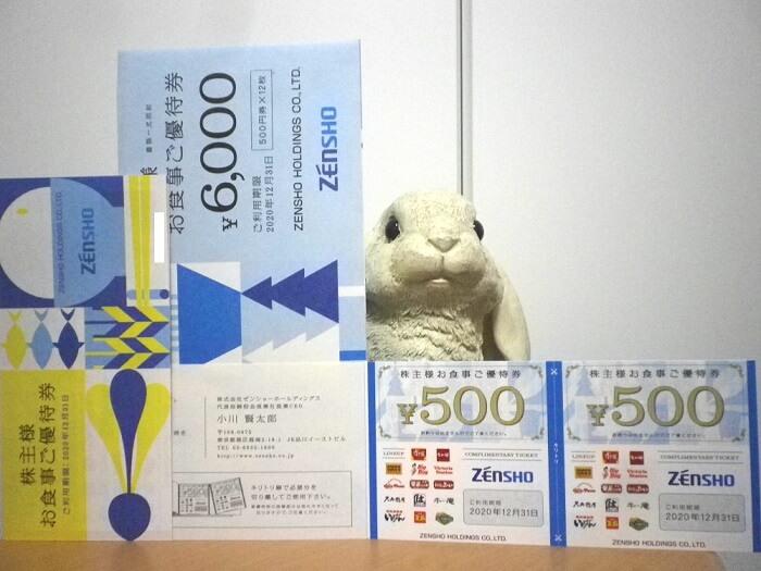 202003ゼンショーホールディングス株主優待券