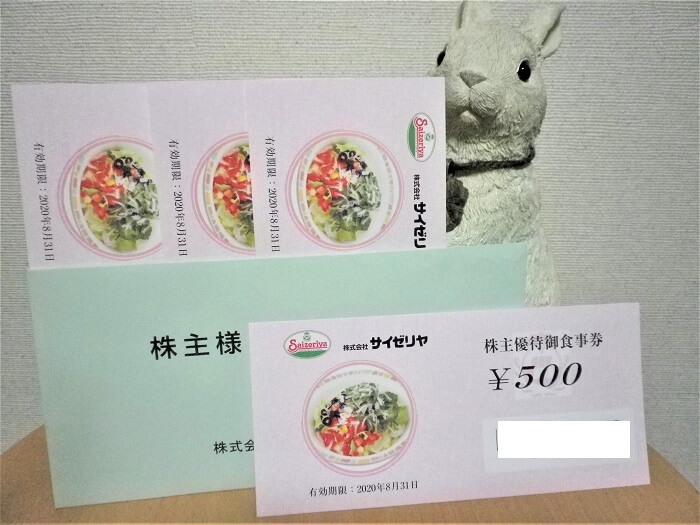 201908サイゼリヤ株主優待券