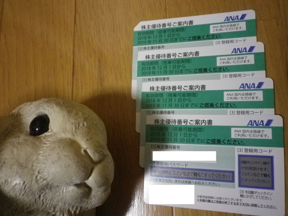 201809ANAホールディングス株主優待1