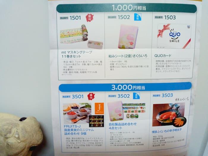 202010萩原工業株主優待商品カタログ1