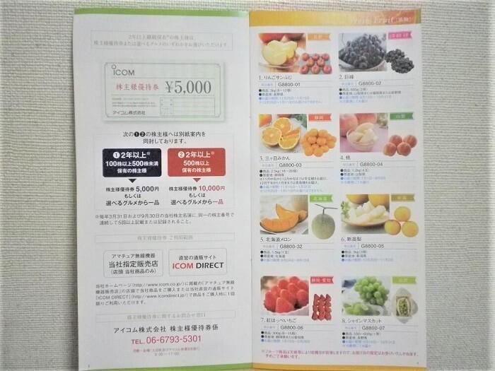 201903アイコム株主優待カタログ3