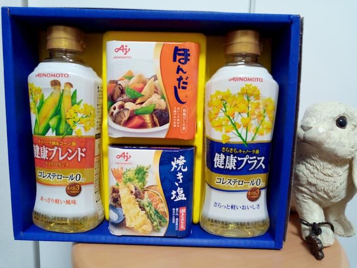 202005TAKARA&COMPANY株主優待で選んだ味の素バラエティ調味料ギフト
