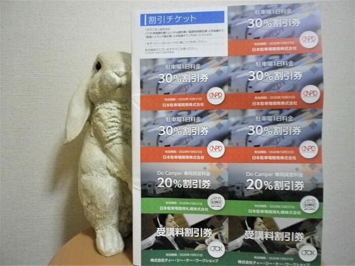201907日本駐車場開発株主優待券1