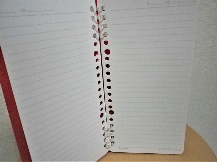 書くときにリングが手にふれないリングノート「TEFRENU」の中身