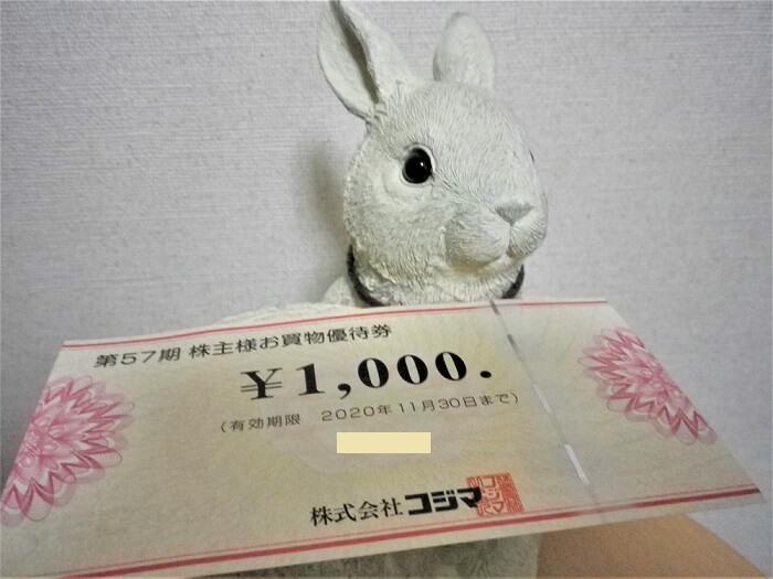 201908コジマ株主優待券