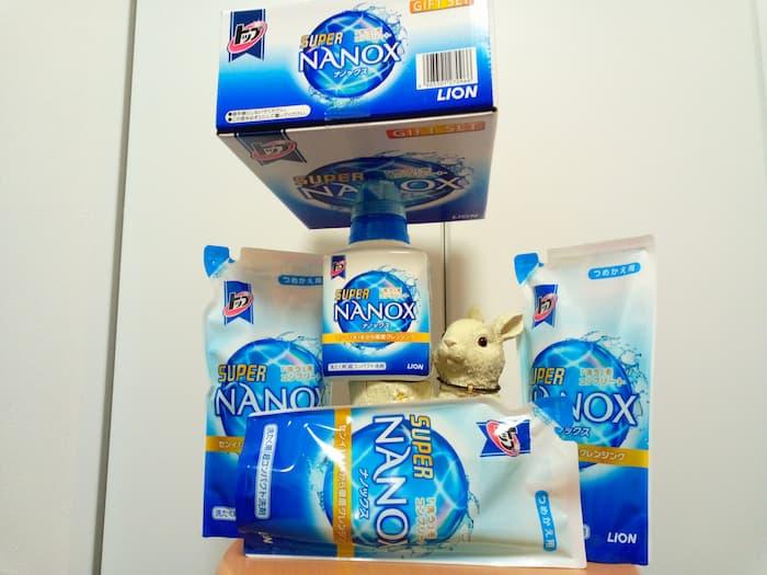202009日本管財株主優待カタログから選択した洗濯用洗剤NANOXセット