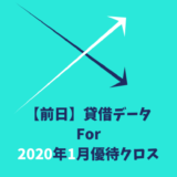 【前日データ】制度信用貸借残高・最高逆日歩|2020年1月末株主優待クロス取引(つなぎ売り)