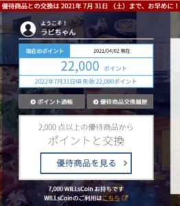 202102ベクトル・プレミアム優待倶楽部ポイント付与