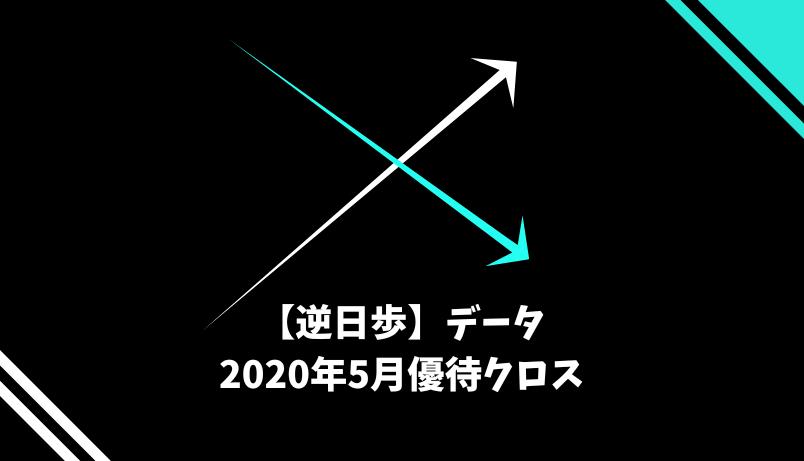 【逆日歩】2020年5月末株主優待クロス取引(つなぎ売り)