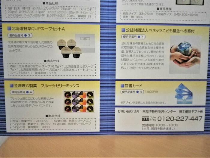 202002東京個別指導学院株主優待カタログの中身2