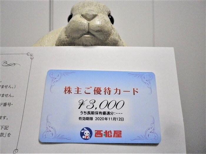 20200220西松屋チェーン株主優待カード