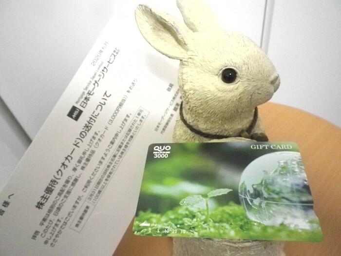 202003日本モーゲージサービス株主優待クオカード