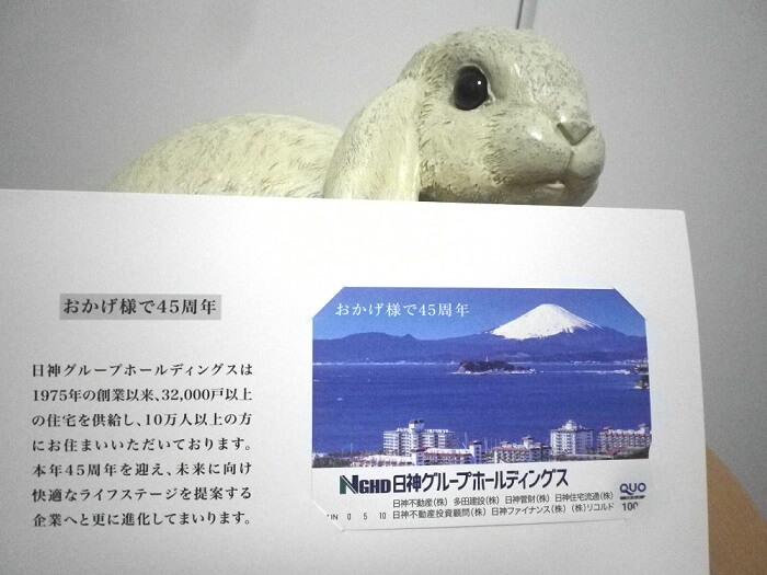 202003日神グループホールディングス株主優待クオカード