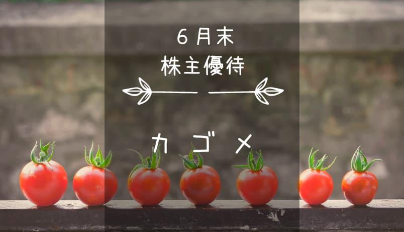 カゴメ(2811)株主優待|夢とトマトの詰まった自社製品セット♪