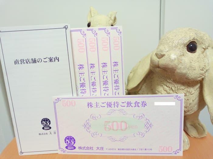 202008大庄株主優待飲食券