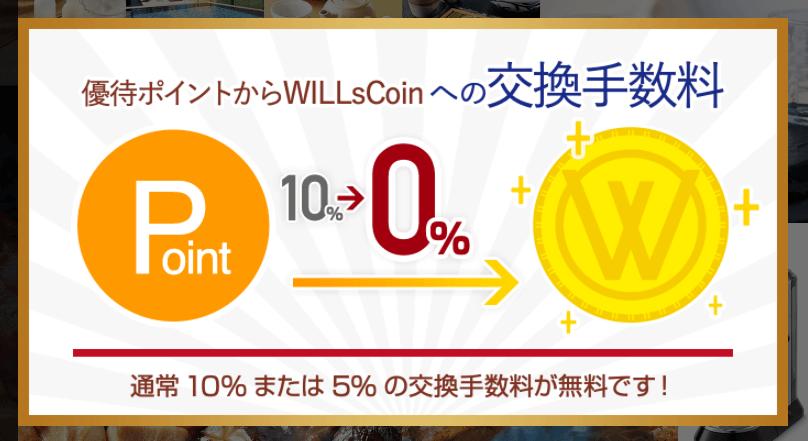 202010マネジメントソリューションズWILLsCoin交換手数料無料キャンペーン