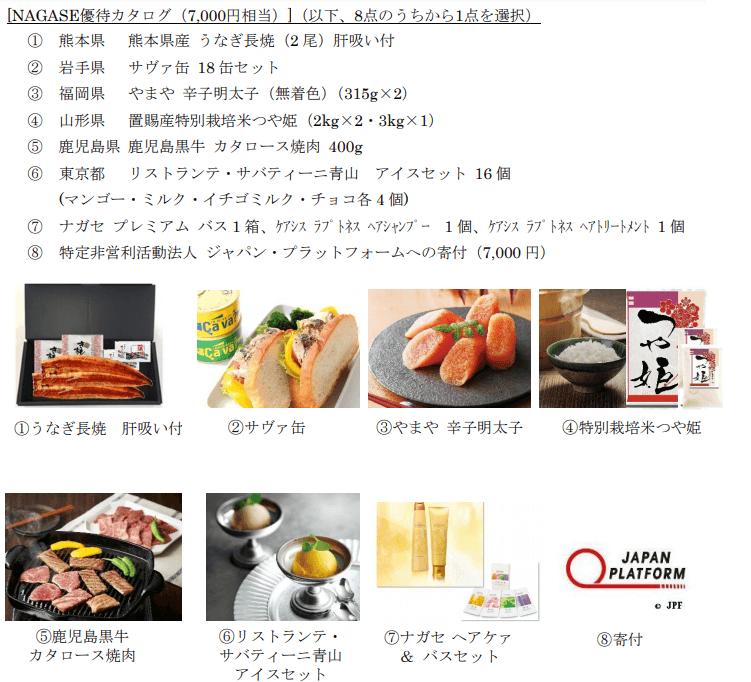 長瀬産業優待カタログ2021年3月末分7,000円相当