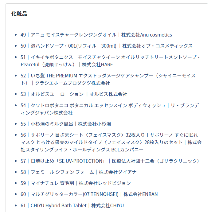 202102PR TIMES株主優待品ラインナップ抜粋その2
