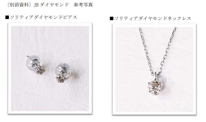 アマガサ優待品:JBダイヤモンドのピアス&ネックレス