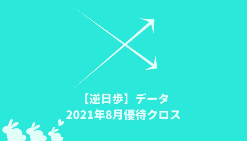 【逆日歩結果】2021年8月末株主優待クロス取引(つなぎ売り)