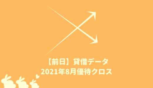 【前日データ】制度信用貸借残高・最高逆日歩|2021年8月末株主優待クロス取引(つなぎ売り)