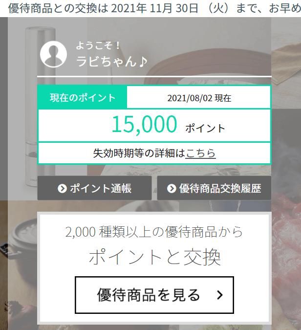 202106ファイバーゲート・プレミアム優待倶楽部ポイント付与