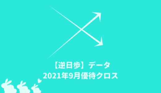 【逆日歩結果】2021年9月末株主優待クロス取引(つなぎ売り)